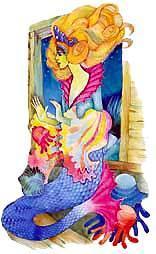 прекрасная морская царевна в жемчужной короне