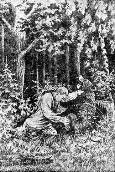 Чоткар Патыр и медведь