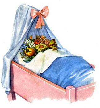 Ида уложила цветы в постельку
