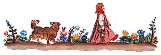 девочка Снегурочка и пес