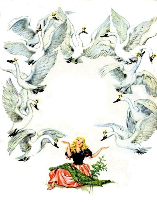 Картинки от сказки дикие лебеди