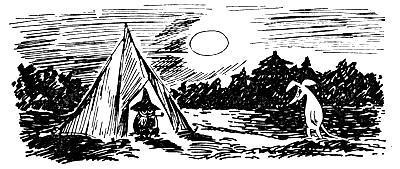 Снифф идет к палатке Снусмумрика