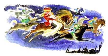 Джэми Фрил и юная леди верхом на коне