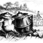Глиняный горшок и медный горшок - Эзоп