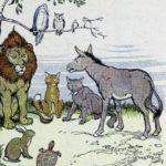 Гостеприимный лев - Эзоп