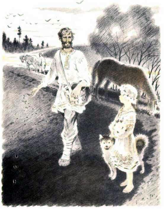 крестьянин сеет пшеницу