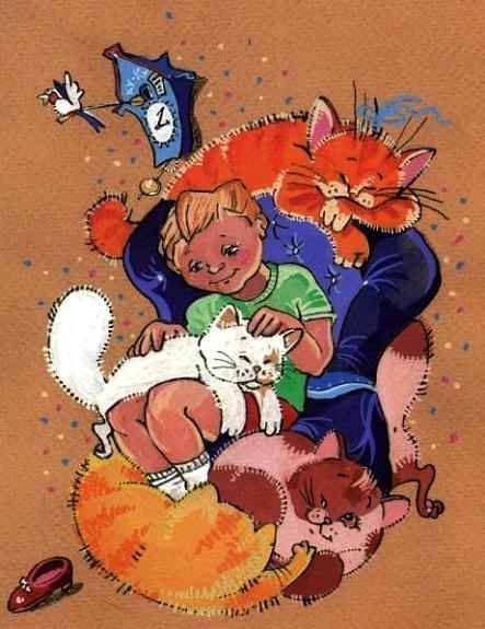 Каспер и пять умных кошек