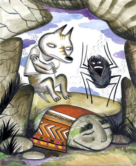 Койот, человек-паук Иктоми и камень Ия