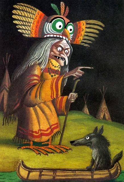 Койот и женщина-сова