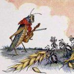 Кузнечик и муравьи - Эзоп