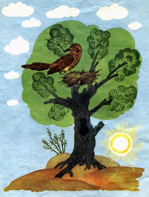 Над этой ямой стояло дерево, а на дереве вил гнездо дрозд