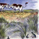 Лягушки в страхе перед дракою быков - Эзоп