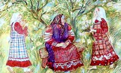 Жила-была бабушка Олёна. И были у неё две внучки - Машенька и Дашенька