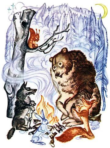 Медведь, волк и лиса