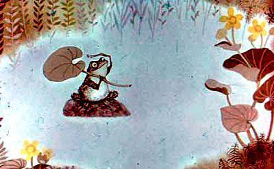 Жила когда-то в большом круглом озере лягушка