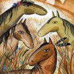 Откуда взялись лошади (индейская поуни) - Сказка народов Америки