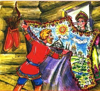Марья-царевна Андрей и расписное полотно