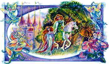 Дженет протянула руку, чтобы сорвать цветок, как вдруг перед ней будто по волшебству появился статный и пригожий юноша в зеленом камзоле
