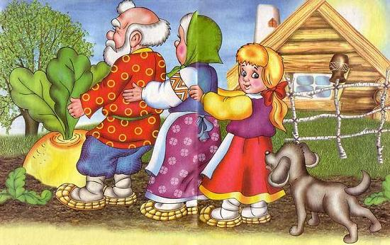 Жучка за внучку, внучка за бабку, бабка за дедку, дедка за репку