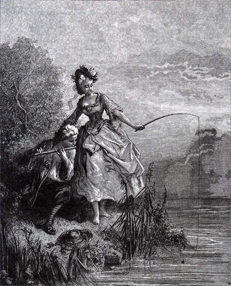 Рыбы и пастух с флейтой