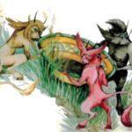 Сандино и трусливые черти (Индонезийская) - сказки других народов