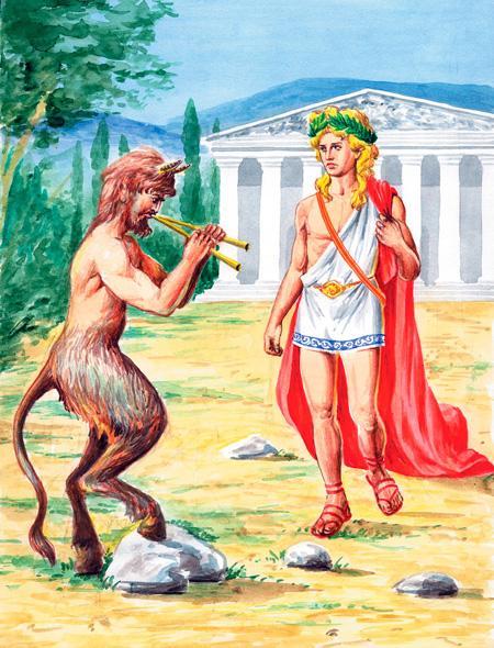 Сатир Марсий и Аполлон