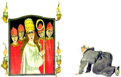 все императоры и короли падают ниц и целуют ей туфлю