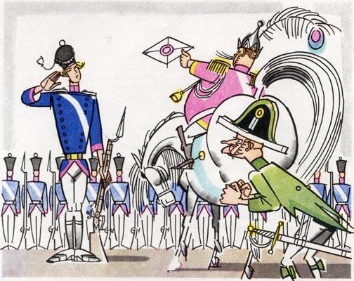 Царь обрадовался, позвал солдата Семёна и подаёт письмо