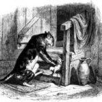 Старый кот и мышонок - Жан де Лафонтен