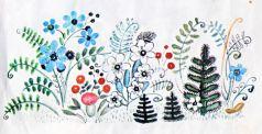 лес трава