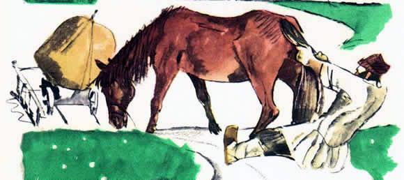 Упрямая лошадь (Как мужик лошадь переупрямил)