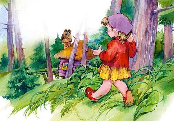девочка набрела на домик в лесу