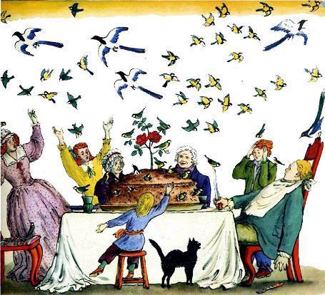 Английские песенки: Птицы в пироге