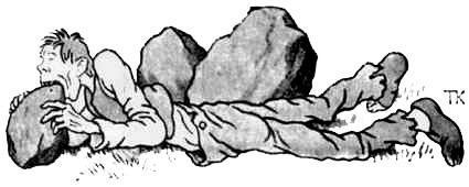человек грызет камень