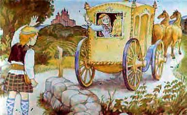 Ассипатл провожает сестру уезжающюю в карете