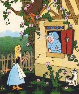 девочка и Бабушка Вьюга