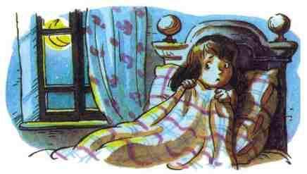 девочка испугалась ночью