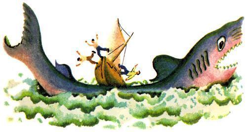 корабль налетел на гигантскую акулу