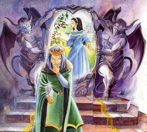 королева мачеха у зеркала волшебного