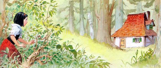 Белоснежка и домик в лесу