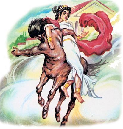 кентавр, который тащил испуганную невесту.