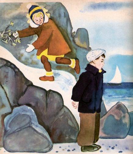 мальчик и девочка на берегу