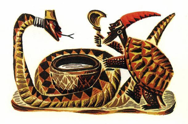 Черепаха и Змея