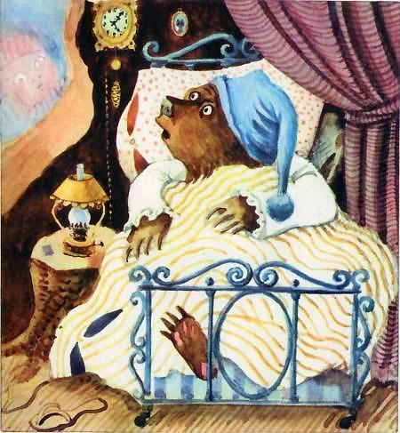 медведь в постеле