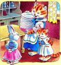 кошка и котенок и зайчиха беляночка