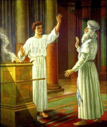 Захария и ангел в храме