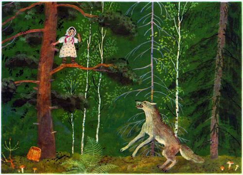 Девочка и лиса (Снегурушка и лиса)