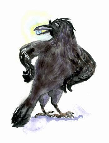 Драгоценный камушек в клюве у вороны