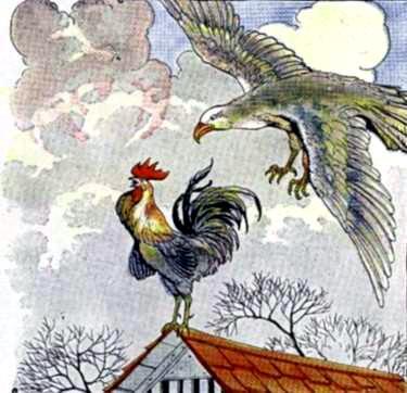 Два петуха и орел