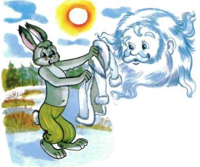 зайчишка и снег шуба